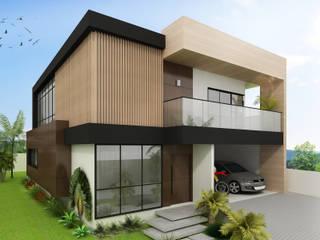 Residência RM: Casas  por Estúdio Criativo Arquitetura e Interiores,Moderno