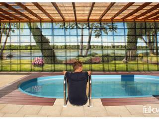 Illusionsmalerei I Wandmalerei - Poollandschaft Moderne Pools von fialkowske design Modern