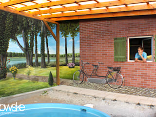 Illusionsmalerei I Wandmalerei - Poollandschaft Landhäuser von fialkowske design Landhaus