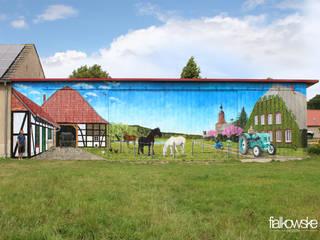 Illusionsmalerei I Wandmalerei - Bauernhof mit Landschaft 2015 Ausgefallene Häuser von fialkowske design Ausgefallen