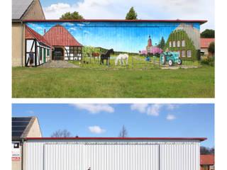 Illusionsmalerei I Wandmalerei - Bauernhof mit Landschaft 2015 von fialkowske design Ausgefallen