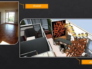 Salle à manger - balcon Salle à manger moderne par JC Créations d'intérieurs Moderne