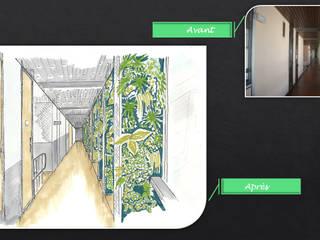Avant-Après... (simulation / Professionnel) Espaces de bureaux modernes par JC Créations d'intérieurs Moderne