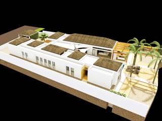 Rezydencja -Karaiby: styl , w kategorii Domy zaprojektowany przez Biuro Architektoniczno-Budowlane s.c.