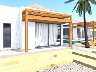 Rezydencja -Karaiby: styl , w kategorii Taras zaprojektowany przez Biuro Architektoniczno-Budowlane s.c.