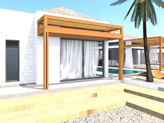 Rezydencja -Karaiby Klasyczny balkon, taras i weranda od Biuro Architektoniczno-Budowlane s.c. Klasyczny