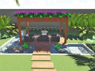 Borges Arquitetura & Paisagismo Jardines de estilo tropical