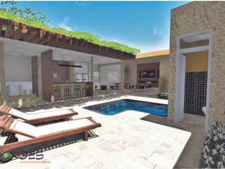 Borges Arquitetura & Paisagismo Rustic style pool