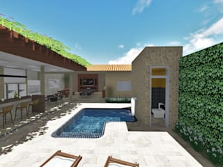 Borges Arquitetura & Paisagismo Modern pool