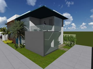 Projeto com sustentabilidade!: Casas  por Ambienta Arquitetura,Moderno