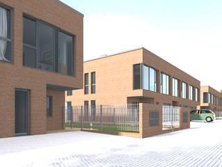 Szeregówka - Warszawa Nowoczesne domy od Biuro Architektoniczno-Budowlane s.c. Nowoczesny