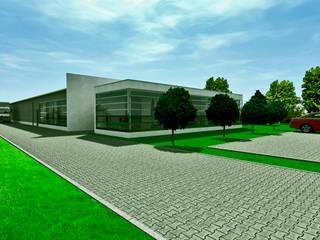 Hala produkcyjna: styl , w kategorii  zaprojektowany przez Biuro Architektoniczno-Budowlane s.c.
