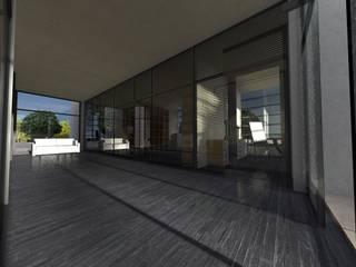 Hala produkcyjna Nowoczesne domowe biuro i gabinet od Biuro Architektoniczno-Budowlane s.c. Nowoczesny