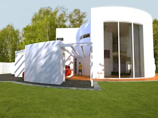 Dom jednorodzinny Nowoczesne domy od Biuro Architektoniczno-Budowlane s.c. Nowoczesny