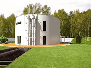 Dom jednorodzinny: styl nowoczesne, w kategorii Domy zaprojektowany przez Biuro Architektoniczno-Budowlane s.c.