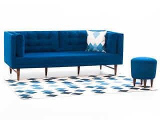 K105 Mobilya Pazarlama Danışmanlık San.İç ve Dış Tic.LTD.ŞTİ. Salas/RecibidoresSofás y sillones Madera Azul