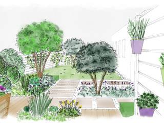 jardin méditerranéen par Atelier Aralia Méditerranéen