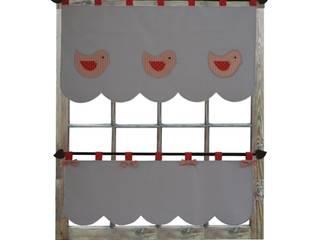 Drewniany Guzik Puertas y ventanasDecoración de ventanas Algodón Gris