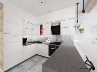 PROJEKT MIESZKANIA - Katowice: styl , w kategorii Kuchnia zaprojektowany przez Hanna Szczypińska - Architektura Wnętrz