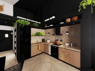 KONKURS DLA ARCHITEKTÓW I PROJEKTANTÓW WNĘTRZ -UŻYTKOWNIKÓW CAD DECOR: styl , w kategorii Kuchnia zaprojektowany przez Hanna Szczypińska - Architektura Wnętrz