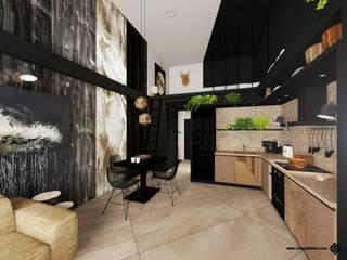 KONKURS DLA ARCHITEKTÓW I PROJEKTANTÓW WNĘTRZ -UŻYTKOWNIKÓW CAD DECOR: styl , w kategorii Jadalnia zaprojektowany przez Hanna Szczypińska - Architektura Wnętrz
