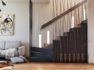 Pasillos, vestíbulos y escaleras modernos de homify Moderno