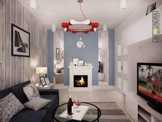 дизайн-бюро ARTTUNDRA Living room Wood Blue