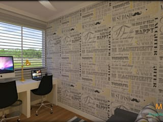 Study/office by Cris Vieira Arquitetura e Design, Modern
