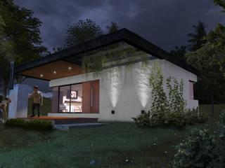 "Cabaña ""V"" Casas modernas: Ideas, imágenes y decoración de Comma - Oficina de arquitectura Moderno"