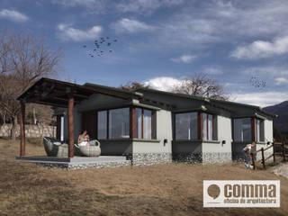 """Casa de Huespedes - """"SR"""": Casas de estilo  por Comma - Oficina de arquitectura"""