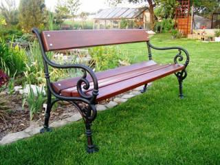 Ławka ogrodowa: styl , w kategorii  zaprojektowany przez Zakład Kształtowania Terenów Zielonych DOL-ek