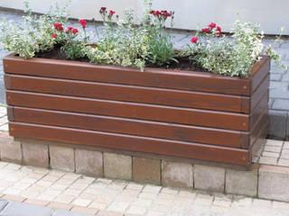 Donica ogrodowa: styl , w kategorii  zaprojektowany przez Zakład Kształtowania Terenów Zielonych DOL-ek