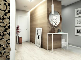 Haus in Przasnysz FOORMA Moderner Flur, Diele & Treppenhaus