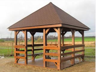 Drewniana altana: styl , w kategorii  zaprojektowany przez Zakład Kształtowania Terenów Zielonych DOL-ek