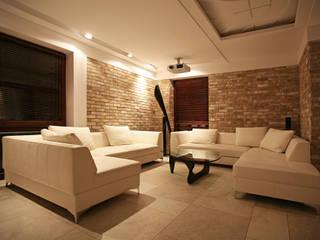 Living room by  dr Jacek Krzysztof Żurek Autorska Pracownia Projektowa, Modern