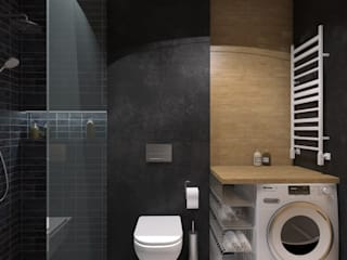 MArker Modern bathroom Concrete Black
