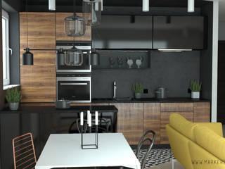 MArker Modern kitchen Stone Black