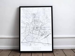 dekoracyjna mapa Poznania: styl , w kategorii  zaprojektowany przez Maptu.pl