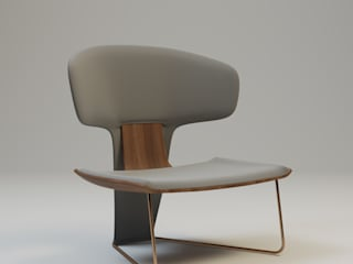 ORCHID Armchair by Ekaterina Elizarova :  в современный. Автор – Elizarova Design Company, Модерн