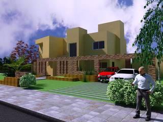 Proyecto en country Los Olivos  Casa PZNL: Casas de estilo minimalista por Obras & Proyectos
