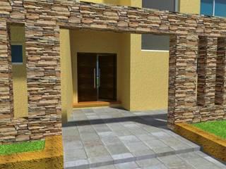 Proyecto en country Los Olivos  Casa PZNL: Casas de estilo moderno por Obras & Proyectos