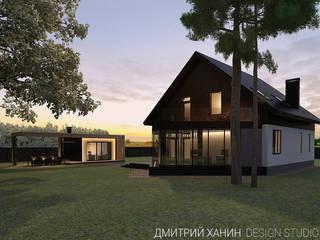 Дачный комплекс в коттеджном поселке Становлянка Dmitriy Khanin Дома в стиле минимализм Дерево Коричневый