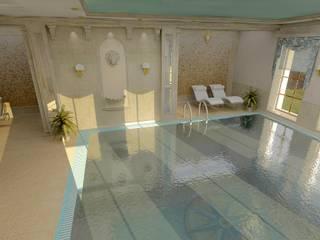 Частный загородный дом : Бассейн в . Автор – Дизайн-студия Сергеевой Надежды, Классический