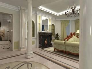 Частный загородный дом : Гостиная в . Автор – Дизайн-студия Сергеевой Надежды, Классический