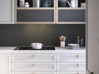 Dibiesse SpA キッチン収納 木 白色