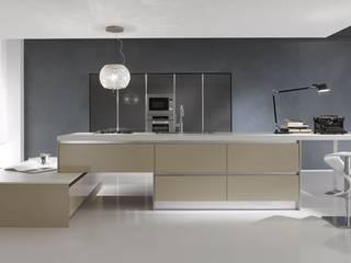 Day -Atra Atra Cucine Cucina moderna Legno composito Metallizzato/Argento