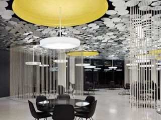 Restaurant at The Spiegel's new headquater Modern dining room by Alcantara Stone Corporation Modern