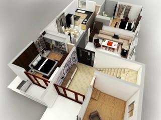 Mr. Babu Residence de Izza Architects & Interior designers Moderno