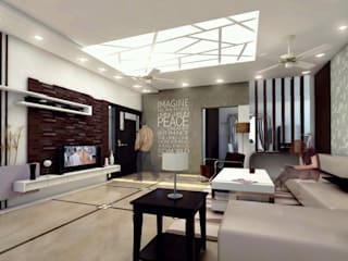 Mr. Babu Residence Modern living room by Izza Architects & Interior designers Modern