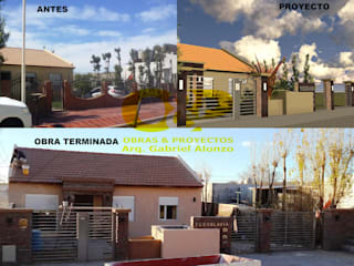 Remodelacion de fachada:  de estilo  por Obras & Proyectos